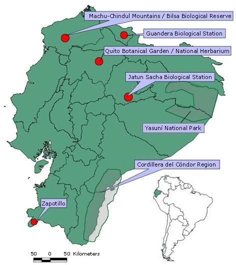 MBG: Research: Ecuador: Project Map   472 x 530 jpeg 75kB