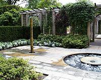 Fountains in Baer Garden