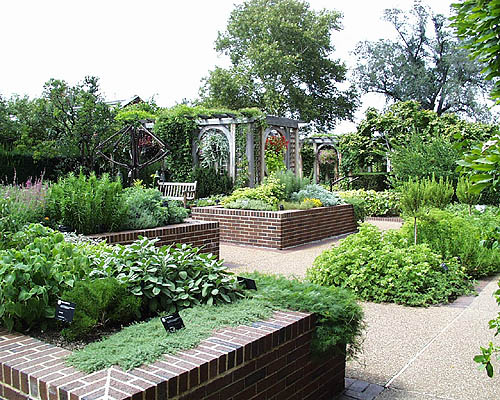 A Bend In The Path Reveals The Zimmerman Sensory Garden. This Garden Was  Designed For The Visually Impaired, With Braille Signs, Raised Beds, And  Textured ...