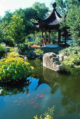 Missouri botanical garden chinese garden for Garden pavilion crossword clue