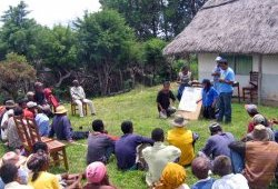 A training session for site-based community conservation facilitators in Firarazana on Madagascar's High Plateau
