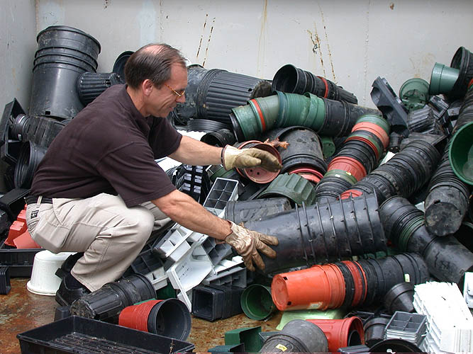Recycled Plastic Landscaping Timbers : Plastic pot recycling