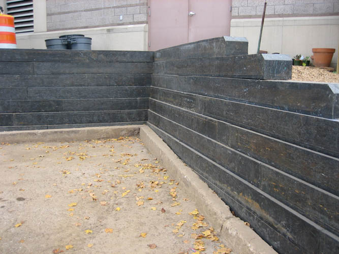 Plastic lumber retaining wall - Plastic Pot Recycling